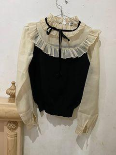 ZARA ruffle knit top tiara& ashyanti