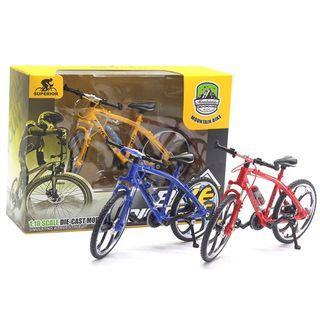 神奇手指自行車合金自行車1:10自行車彎道迷你賽車玩具