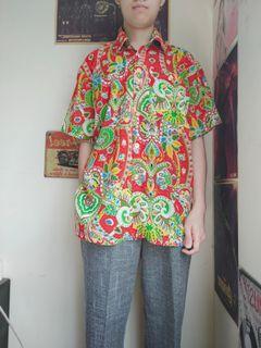 古著花襯衫