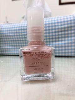 無印良品粉色指甲油