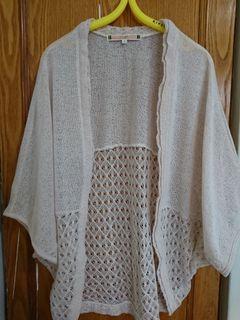日本購入罩衫棉麻杏色罩衫