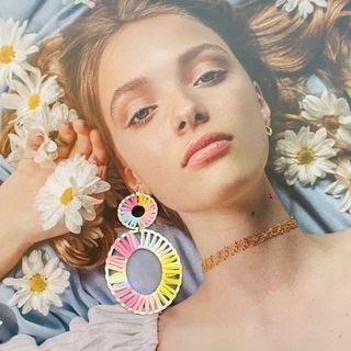 全新❤️品牌獨一無二獨角獸🦄️編織雙圈耳環