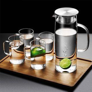 不鏽鋼蓋玻璃冷熱水壺 ( 1500ml )