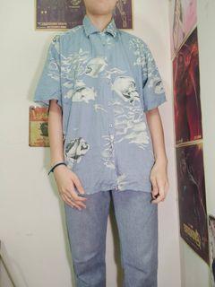 古著 魚花襯衫(泰國進口)