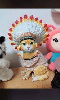 印地安貓 擺飾 擺件 #618