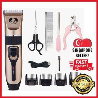 (🚚 𝐅𝐑𝐄𝐄 𝐃𝐄𝐋𝐈𝐕𝐄𝐑𝐘!) Pet Grooming Kit Cordless Professional Rechargeable Pet Cat Dog Hair Trimmer Grooming Kit Electrical Clipper Shaver Set Haircut Machine