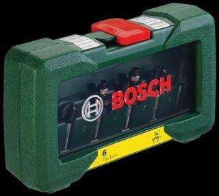 """Bosch Router Bit Set 1/4"""" Shank (6pcs)"""