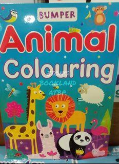 BUMPER ANIMAL COLOURING BOOK (BRANDNEW)
