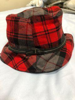 Coach 格紋羊毛女帽