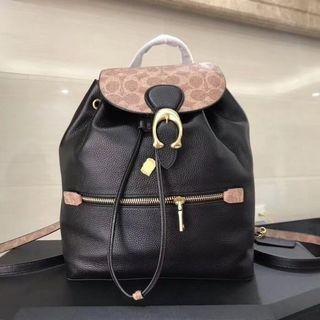 COACH Evie Backpack With Signature Canvas Blocking