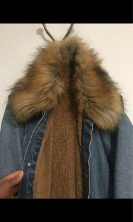Faux furr Sherpa Lined Denim jacket