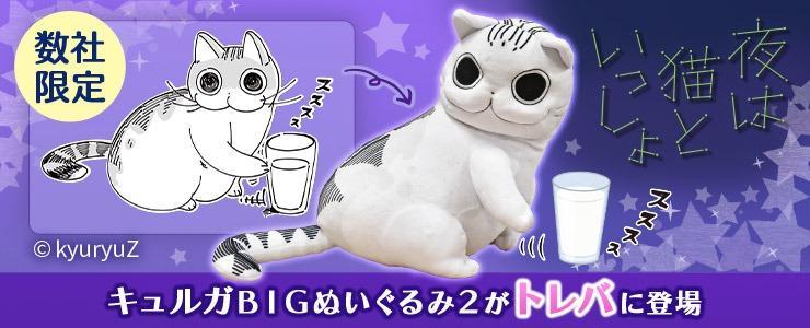 🎁Free Gift🎁[Limited Availability] 🇯🇵 Yoru wa Neko to Issho 😻 Kyuryuga Big Plushy