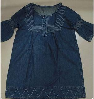 [FREE ONGKIR] Atasan blouse jeans denim bisa untuk bumil