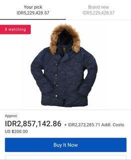 Hanya 1 Pcs! Alpha Industries Parka Jacket N-3B Good Condition Harga Jomplang Under Retail Jual RUGI