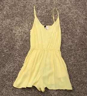 H&M yellow romper (Size US2)