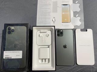 Iphone 11 pro max. 256gb under warranty midnight green factory unlocked