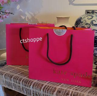 Kate Spade Hot Pink 2014 Shopping Paper Bag (Small )