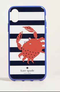 Kate Spade New York Womens Jeweled Stripe Crab Phone Case for iPhone X