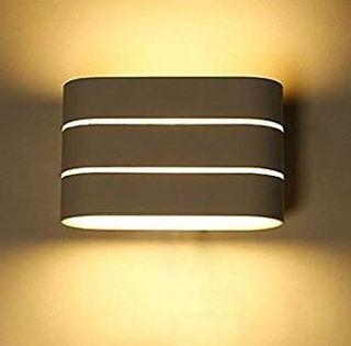 LED Up Down Wall Light Hume - Metal White Brushed , 6 Watts , Waterproof, suitable for Indoor/Outdoor