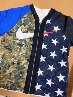 Nikelab Nike reversible oversize baseball jersey 雙面穿 迷彩 星星 拼接 棒球衣 棒球衫 寬版