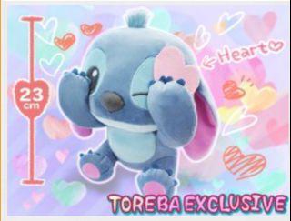 🎀Ori Disney Japan🎀 Toreba Exclusive✔️ Disney Original Stitch Kawaii Plushy Heart Letter 23cm💙 抓乐霸限定款 可爱史迪奇玩偶💙