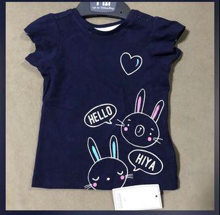 SALE❗️Authentic Mothercare hello bunny navy shirt