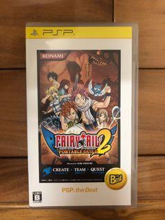 sony PlayStation Portable psp 遊戲片 魔導少年Portable 公會2 Fairy Tail 2