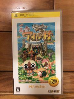 sony PlayStation Portable psp 遊戲片 魔物獵人日記 暖呼呼艾路村