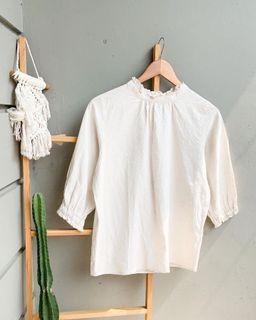Turtle ruffle blouse
