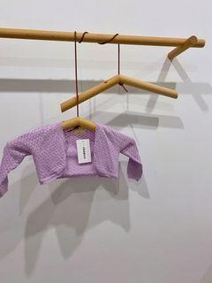 Utridevn 薰衣草 紫色 洞洞 針織 短版 小外套