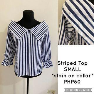 3/4 Stripes Top