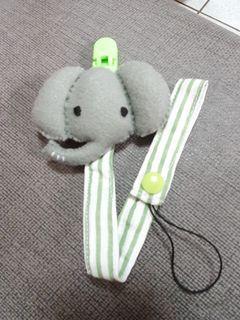 手作寶寶奶嘴鏈·大象版