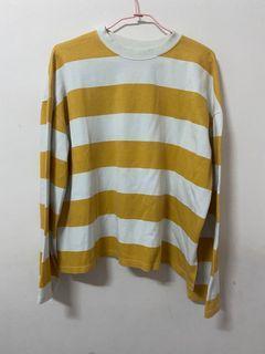黃色條紋上衣