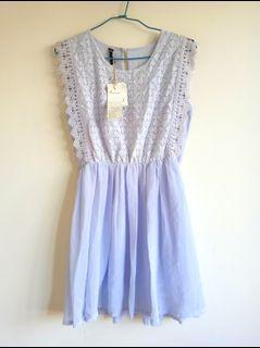 全新蕾絲紗裙小洋裝