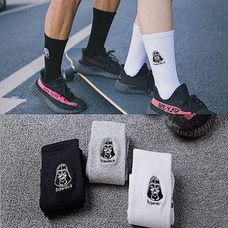 黑色款星際大戰中筒襪