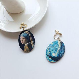 復古文藝復興油畫耳夾