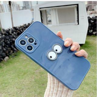 眼睛👀 藍色手機殼