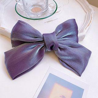 全新公主紫 蝴蝶結髮夾(大款)