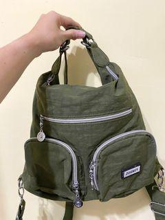 兩用軍綠色包包 後背包/斜背包