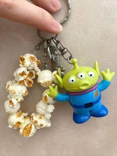(包平郵)三眼仔 扭蛋 迪士尼 反斗奇兵 三眼仔 公仔 擺設 擺件 收藏 disney toy story pixar alien charm figure toys doll  mini popcorn bucket 迷你 爆谷桶