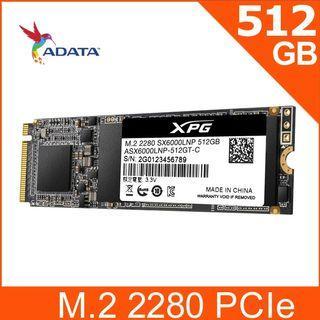 免運 威剛 ADATA XPG SX6000 Lite 512GB M.2 2280 PCIe SSD 固態硬碟