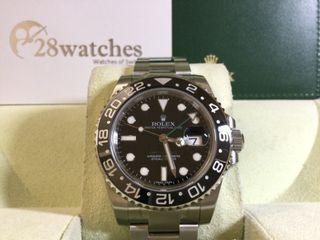 未用品 Rolex GMT-Master II 116710LN 行貨  AD發票 齊膠紙 停產 未改帶- 28watches