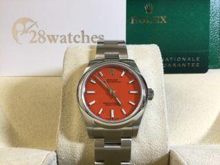 未用品 Rolex Oyster Perpetual 31 277200RED 五年保養- 28watches