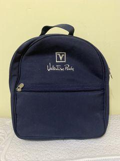 全新 Valentino Rudy深藍色後背包