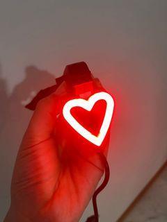 Bike rear LED light - heart