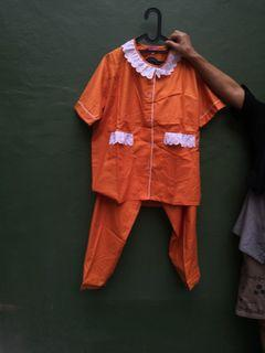 Brand new pajamas size XL 1 pasang. Hermes inspired colour.