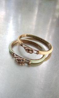 Greta snake  skins stainless settings
