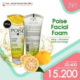 LAGI DISKON!! Poise Facial Foam 100 gr Yuzu Orange