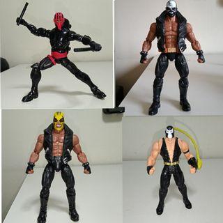 Marvel legends rage skullbuster crossbones custom night thrasher Kenner batman and robin bane