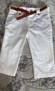 NEW White trousers with belt girl UK brand